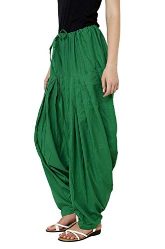 HUNGRY FASHIONS Patiala for Womens | Patiala Pant | Free Size Patiyala | PAK Green