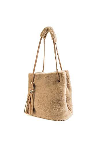 Howoo donne inverno pelliccia ecologica borsa a tracolla felpa borsetta soffice borsa della benna nappa borsa a tracolla cachi