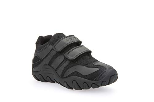 Geox Boys J Crush M Sneakers, Black, 39 EU