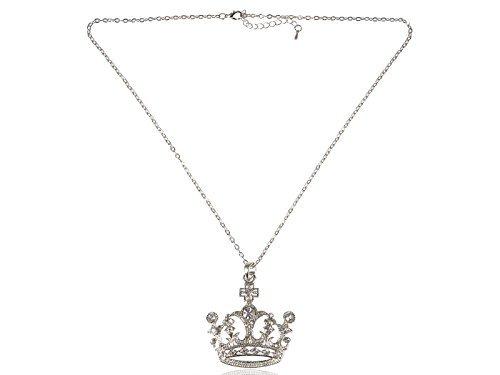Aliang Frau Silber Swarovski Element Kristall Rhinestone Königin Prinzessin Krone Anhänger ()