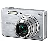 FujiFilm FinePix J100 Digitalkamera (10 Megapixel, 5-fach opt. Zoom, 6,9 cm (2,7 Zoll) Display) silber