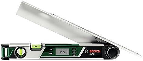 Bosch DIY Winkelmesser PAM 220, 2 x Batterien AA, Schenkelverlängerung, Schutztasche (0° - 220° Messbereich, +/- 0,2° Messgenauigkeit)