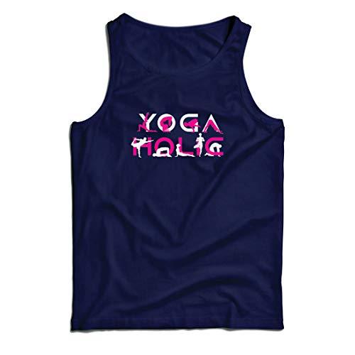 lepni.me Weste Yoga Holic, Positive Vibrationen, motivierende Workout-Zitate, Yogi-Liebhaber-Geschenk (X-Large Blau Mehrfarben)