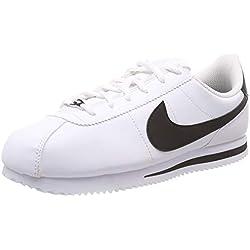 Nike Cortez Basic SL (GS), Zapatillas de Gimnasia para Niñas, Blanco (White/Black 102), 38.5 EU