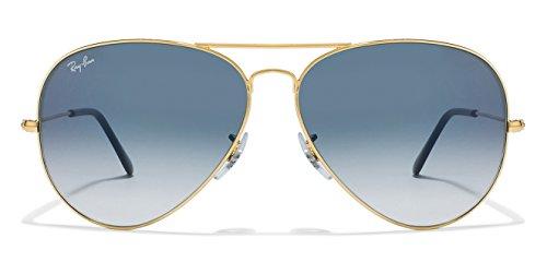Men\'s Branded Aviator Sunglasses Color Golden to Blue