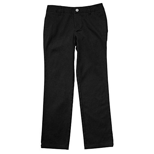 French Toast Little Girls' Straight Leg Pant, Black, 6X
