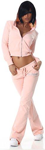 Jela London - Ensemble sportswear - Uni - Manches Longues - Femme Rose
