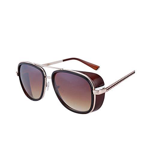 Sport-Sonnenbrillen, Vintage Sonnenbrillen, Oculos Masculino Gafas De Iron Man Windproof Sunglasses Zonnebril Mannen Tony Stark Cosplay Sun Glasses Robert Downey JR Goggles Maroon gradient