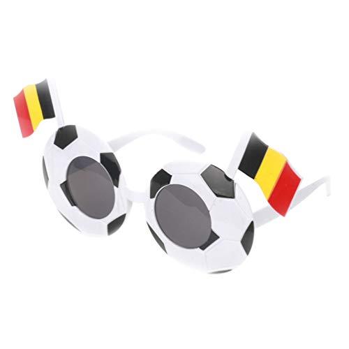 Kreative Fan Fußball Kostüm - NUOBESTY Fußball Brillen mit Nationalflagge Fan Kostüm Gläser Fotografie Requisiten für Fußballspiel (Belgien)