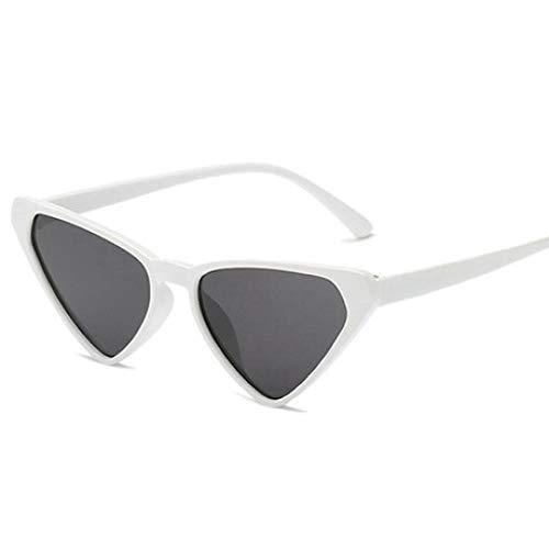 SPFAZJ Sonnenbrille Dreieck Cat Eye Sonnenbrille männlichen Damen Persönlichkeit Sonnenbrillen-Mode Ozean ()