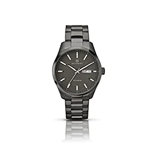 Accurist Men's Quartz Watch with Grey Dial Analogue Display and Grey Stainless Steel Bracelet Plated Bracelet 7058.01