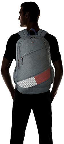 Best tommy hilfiger backpack in India 2020 Tommy Hilfiger Xylo 30 Ltrs Grey Laptop Backpack (TH/XYLOLAP07) Image 7