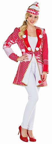 üm Patchwork Jacke rot-weiß Karneval Fasching Gr.42 ()
