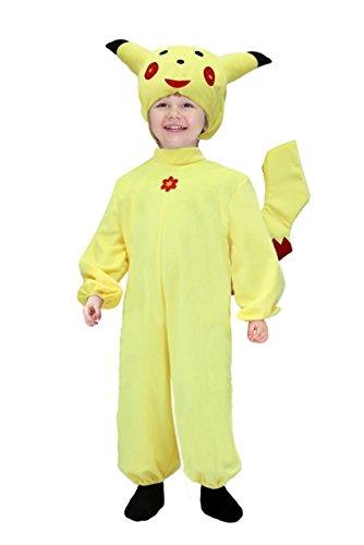 Kostüm Karneval Pikachu männlich 5anni gelb