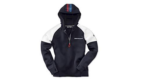 BMW Motorsport - Felpa con Cappuccio da Donna con Inserto in Rete di Poliestere, con Cerniera, Colore: Blu Blu XL