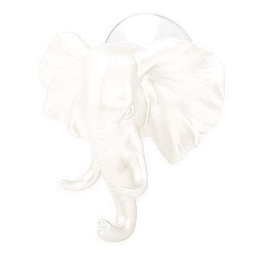 Wandhalterung mit Elefant, selbstklebend, für Kleidung, Haken und Kleiderbügel, für Wand, Schlüsselanhänger, für Schlafzimmer, Dekoration weiß -