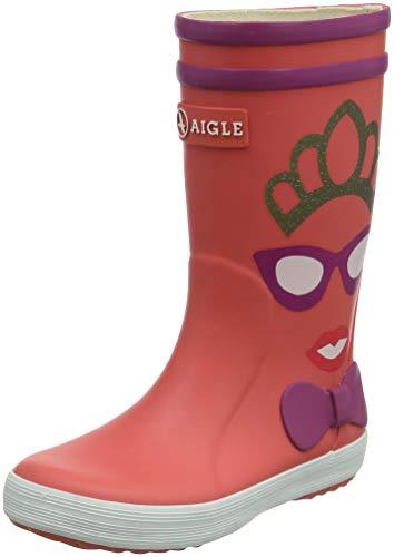 Aigle Unisex-Kinder Lolly Pop Gummistiefel, Pink (Princesse 001), 25 EU (Stiefel Gummi Regen Jungen)
