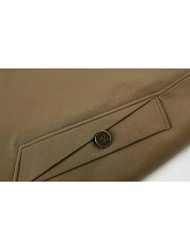 MatchLife Homme Trench Coat Style Veste Affaires Col en V et Col Rond Style3-kaki