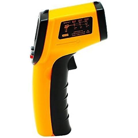 Denshine Termometro digitale a infrarossi, temperatura pistola laser punto per misurare la temperatura