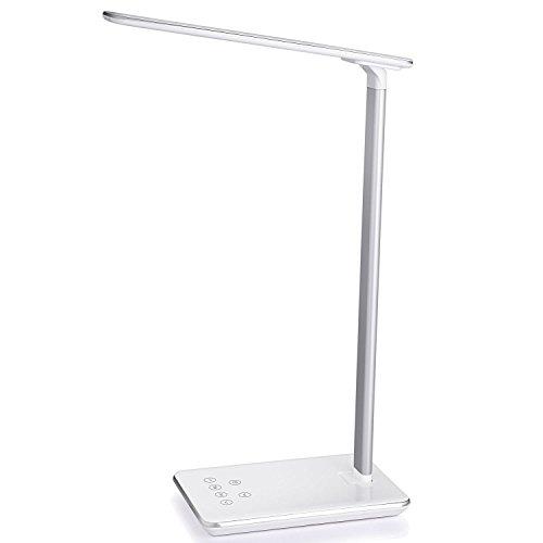 48LED-Schreibtischlampe, LED Nachttischlampe, Einschlaflicht Leselampe,LOFTER dimmbar und faltbar, 2 USB-Ausgang, USB Anschluss zum Aufladen funktioniert mit Touch-Bedienelementen, der Zeitschalter(nach 1 bzw. 2 Stunden selbst ausschaltet) 4 Farbewechsel Augenschutz