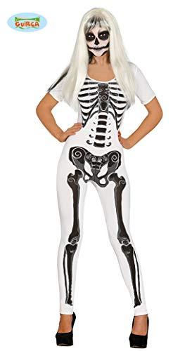 Sexy Skelett Jumpsuit für Damen Gr. S - L, Größe:M