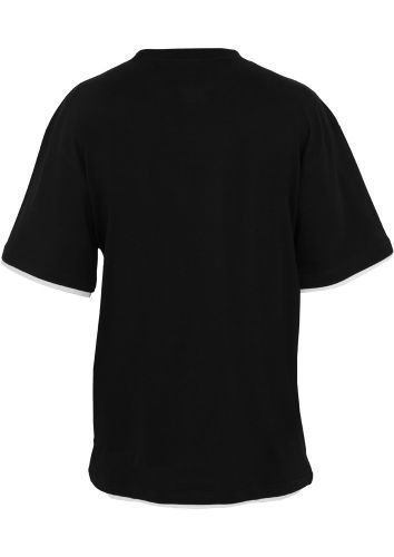 Contrast Tall T-Shirt - schwarz / weiß Schwarz
