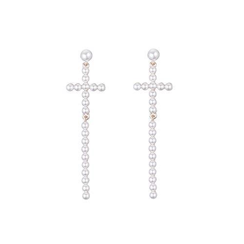 9638f63abc7d Pendientes plata Largos Cruz con Piedras de Plata de Mujer Arracadas –  Silver Long Earrings Cross with Silver Women s Stones Arracadas