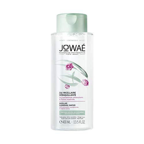 Jowaé Acqua Micellare Struccante Viso e Occhi Senza Risciacquo ai Lumifenoli Antiossidanti e Peonia Imperiale, adatto a Tutti i Tipi di Pelle anche le più Sensibili. Formato da 400ml