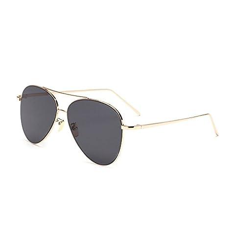 hmilydyk Herren Frauen polarisierte Aviator Sonnenbrille FLASH VERSPIEGELT Color Objektiv Metall, UV400, Rahmen Eyewear mit Fall, Gold Frame Black