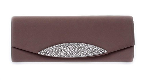 Clutch Tasche Party Handtasche Abendtasche mit Strass Glitzer Glitter in verschiedenen Farben, 0156 Khaki