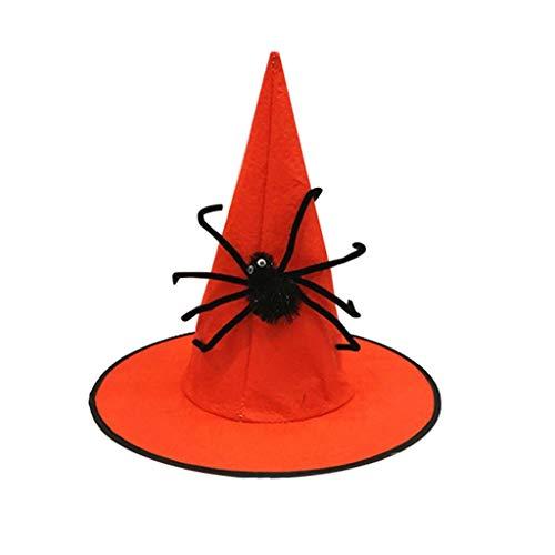 ITCHIC Cappello del Mago del Ragno Non Tessuto del Festival Fantasma del Cappello di Halloween Cappello del Mago del Ragno Non Tessuto di Travestimento del Festival Fantasma del Cappello di Hallow