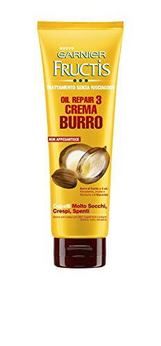 Garnier Fructis Oil Repair 3 Crema Burro Trattamento Nutriente senza Risciacquo, 150 ml