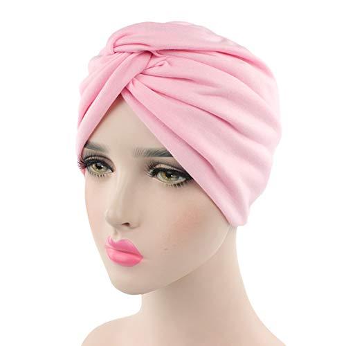 Ssowun Turban Chemo Hut Damen, Mützen Beanie Hüte Muslim Kopfbedeckung Headwraps Skull Cap Krebs Cap für Haarverlust Chemo Krebs Cap Chemotherapie EINWEG Verpackung (Muslim-skull-cap)