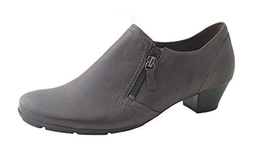 Gabor Donne Slipper Tropic olio 35.414.59 grigio peltro, taglia 36-40, dimensione F, cuoio, tacco 3,5 cm grau