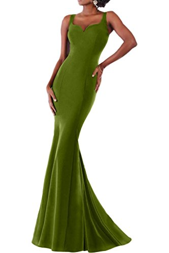 Missdressy - Robe - Sirène - Femme Vert - Olive