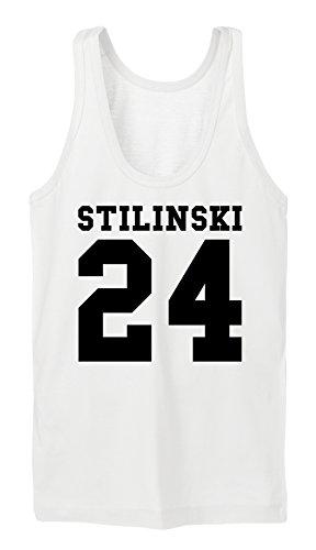 Stilinski 24 Tanktop Girls Bianco-M