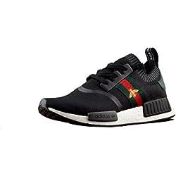 NMD R1 Gucci Primeknit Black Running Shoes Scarpe da Corsa Uomo Donna