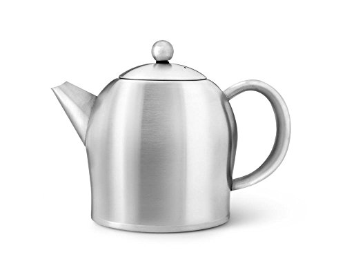 Bredemeijer doppelwandige Teekanne Minuet® Santhee Edelstahl matt gebürstet 1