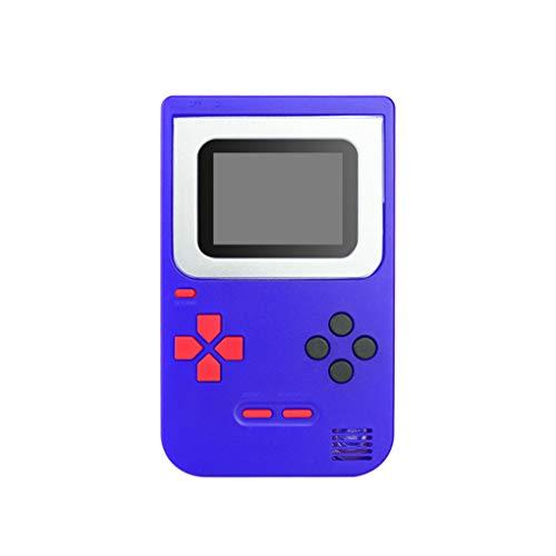 QQYOUXIJI Mini NES Nostalgic Kinderspielgerät Tetris Spielkonsole Handheld-Spielkonsole Handheld 268 Spiele (Farbe : Blau)