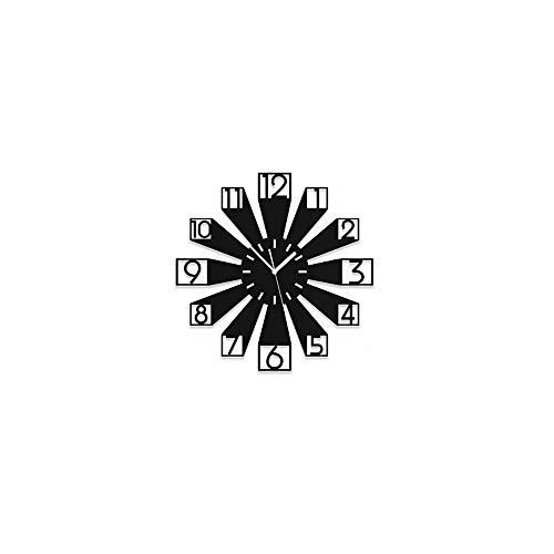 Ibalody 3d creativo digitale nero acrilico quarzo muto grafici a parete uso silenzioso uso domestico moderno orologio da parete soggiorno ingresso camera da letto decorativo orologio da parete