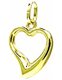 16d2fc50b896 Pegaso joyas – colgante oro amarillo 18 kt – Colgante de corazón abierto  para ...