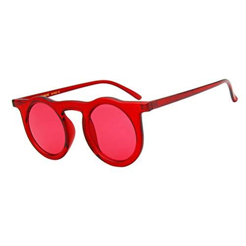 Yuanz Runde sonnenbrillenfrauen Brand Design uv Schutz Anti-reflektierende Retro rot rosa schwarz Sonnenbrille für Frauen,C05