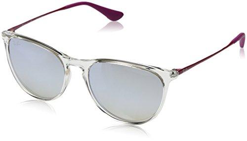Rayban Mädchen Sonnenbrille 9060s Transparent/Browngraddarkbrownmirsilv, 50
