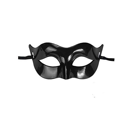 ODJOY-FAN 1 PC Grenzenlos Einfarbig Maske, Klassisch Masken Maskerade Hälfte Gesicht Maske für Party Kostüm Ball (Schwarz,1 ()