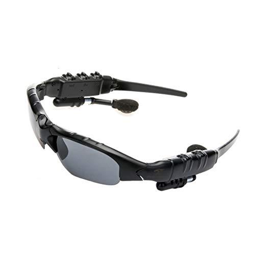 LFF SPORT Intelligente Brille Drahtlose Bluetooth Kopfhörer Sonnenbrille Stereo Musik Freisprech Sportbrillen für Bluetooth-Gerätetelefon Geeignet für Musikreiten im Freien(Schwarz)