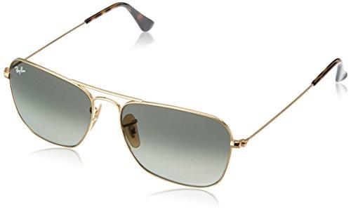 Ray-Ban Herren Sonnenbrille RB3136, Gold (Gold/Lightgreygradientdarkgrey), One size - Sonnenbrille Gold Ban Herren Ray