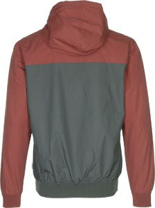 iriedaily Jacke Men AUF DECK Charcoal anthrazit/weinrot
