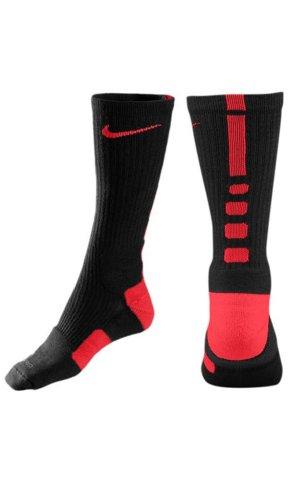 Nike, Chaussettes De Basket-ball Unisex Adulte Elite Multicolor - Noir / Rouge