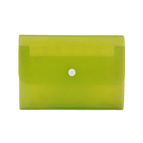 13-pocket Fächermappe Ordner A6Candy Color Kleine Dokument Taschen Expansion Wallet BILL Ordner, 17,8x 11,4cm grün (Wallet Snap Kleine)