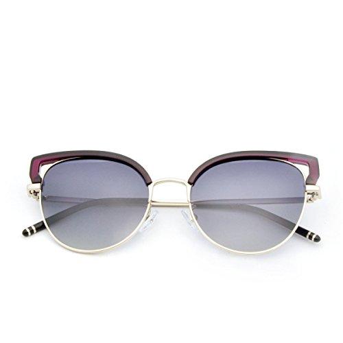 ZHANG MEI Metall polarisierte Sonnenbrille Damen Cat-Length Full Frame UV Schutz winddichte Gläser...